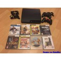 PlayStation 3 Slim 160GB Set + 2 Controllers + 8 Games