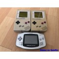 3 x Nintendo Gameboy met defect