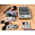 Super Nintendo SNES set + Super Mario All Stars
